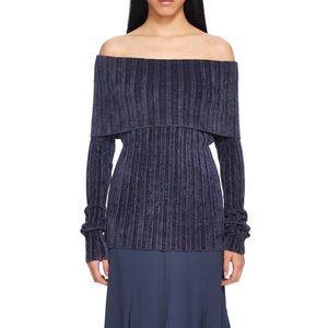 Sies Marjan Daphne Velour Off the Shoulder Sweater